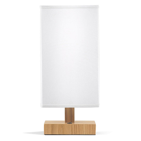 Dom Mid Century Table Lamp Natural Wood Finish Base