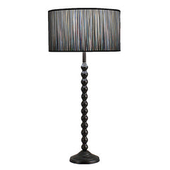 HAMPTON Contemporary Table Lamp Brushed Aluminum and Walnut Base