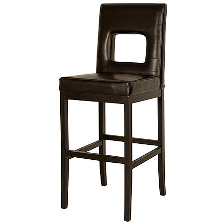 The W Leather Bar Stool in Mocha Bonded Leather