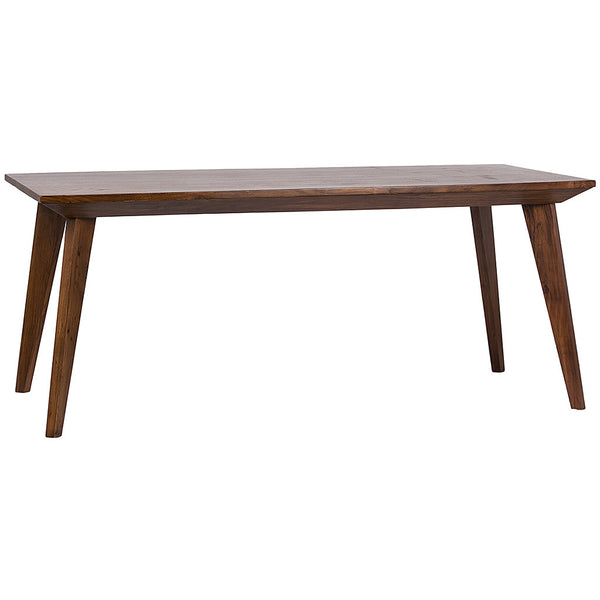 "Large Modern 72"" Dining Table in Stained Accacia Wood"