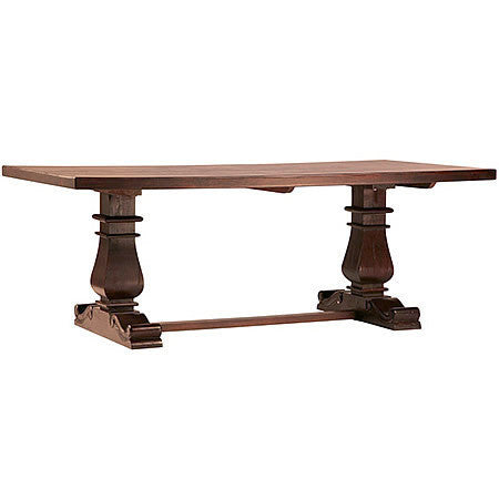 Large Art Deco 84 inch Extendable Dining Table From Blond Indian Hardwood in Sealed Finish