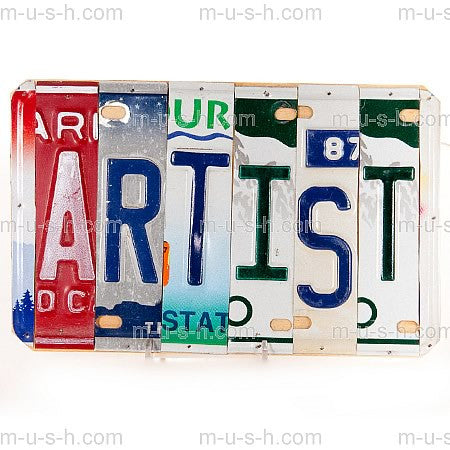 License Plate Signs ARTIST Hollywood