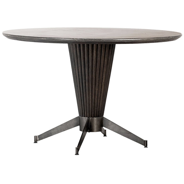 "Baler Space Age 48"" Round Dining Table with Bluestone Top"