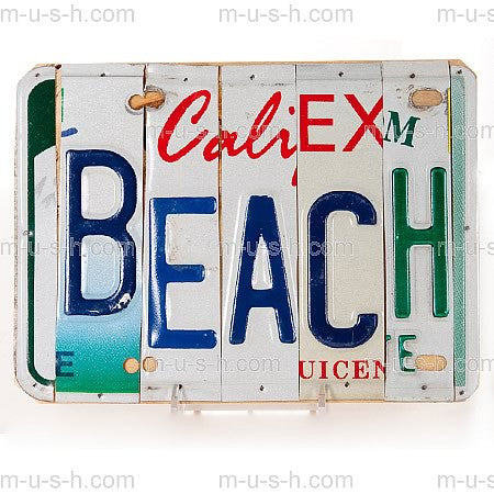 License Plate Signs Beach v2