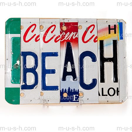 License Plate Signs Beach v1 Hollywood