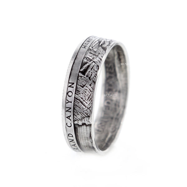 GRAND CANYON Artisan Coin Ring made in the US