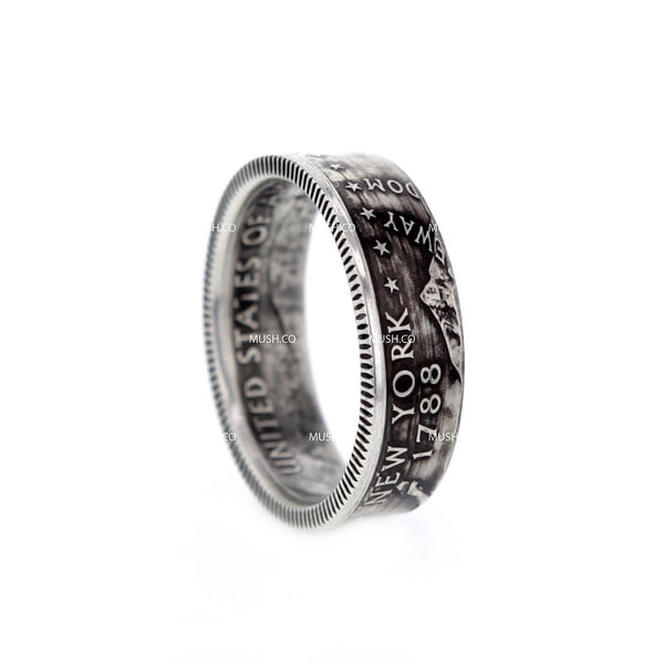 NEW YORK 1788 Artisan Coin Ring made in the US Size 8