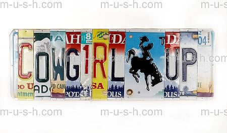 License Plate Signs COWGIRL