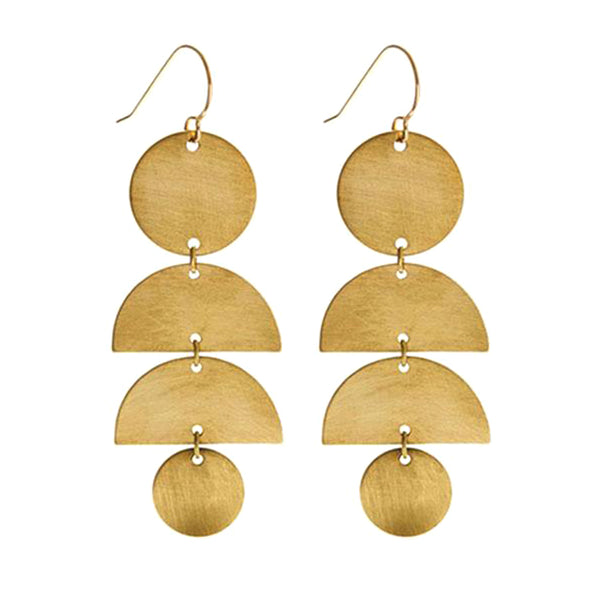 Frida K Finished Brass Stack Earrings