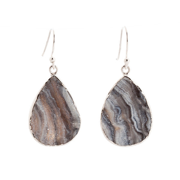 Unique Desert Druzy and Sterling Silver Earrings
