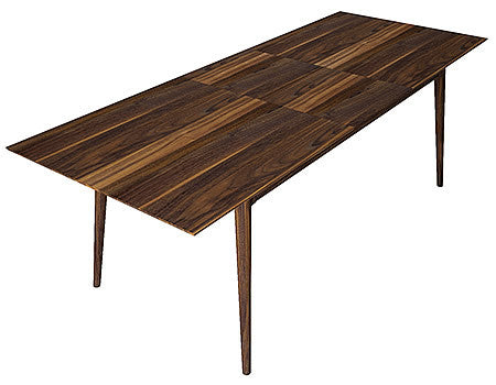 91 inch Extending Dining Table from Solid American Black Walnut in Midcentury Modern Style