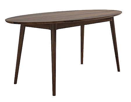 Oval Dining Table from Solid American Black Walnut in Midcentury Modern Style