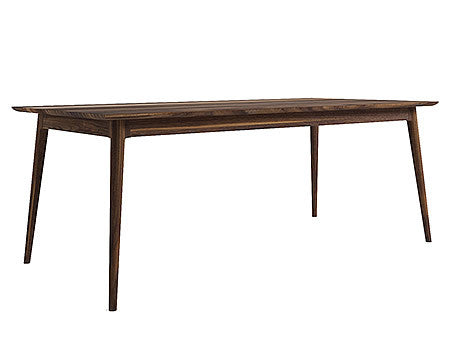 Rectangular Dining Table from solid American Black Walnut in Midcentury Modern Style