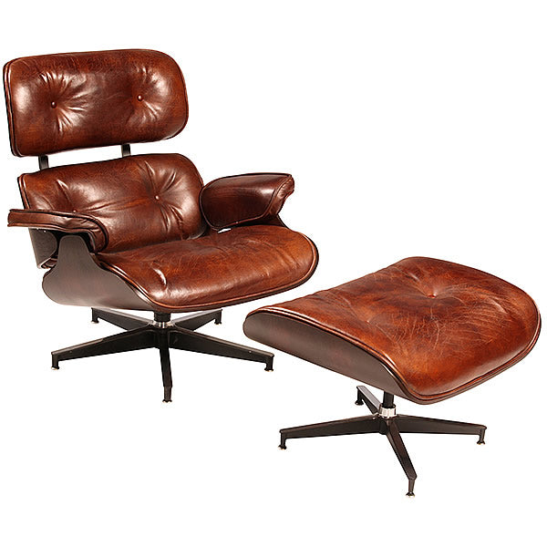 Eamon Classic Designer 50's Eames Style Lounge Chair with Ottoman