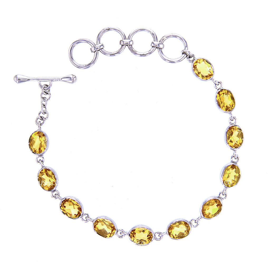 faceted-citrine-link-bracelet-in-sterling-silver