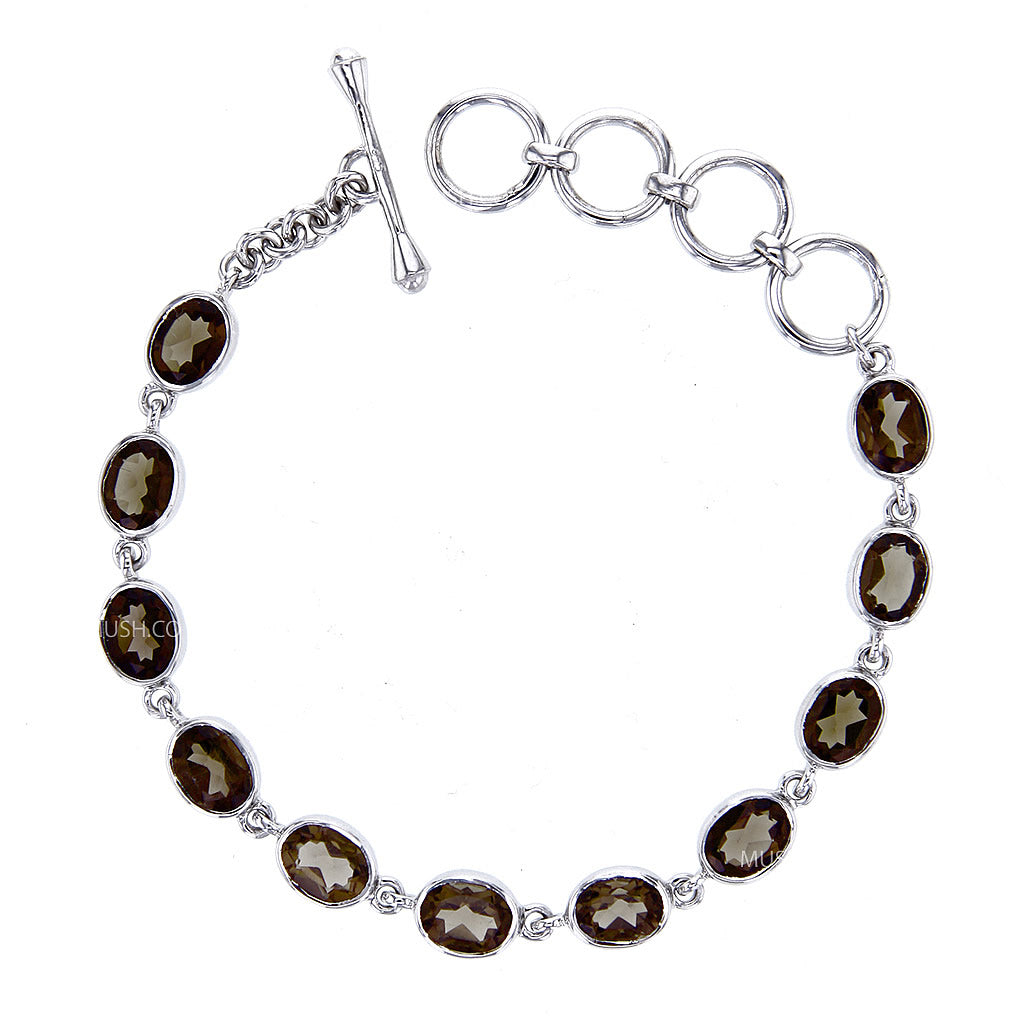 faceted-aaa-smokey-qartz-link-bracelet-in-sterling-silver