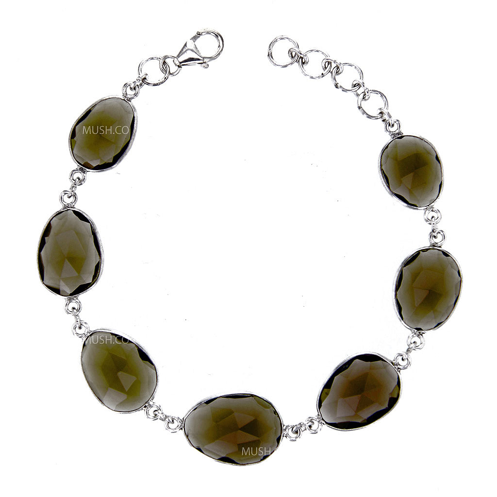 organic-faceted-aaa-smoky-qartz-link-bracelet-in-sterling-silver