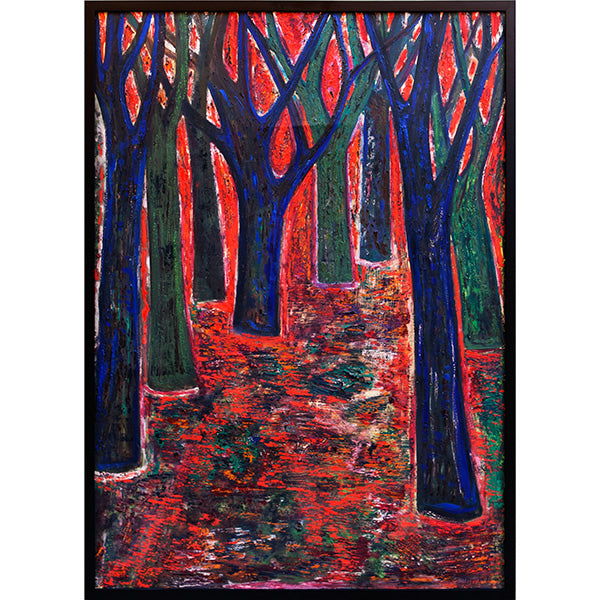 Forest At Sunset Vintage Abstract Painting by Nikolay Nikov