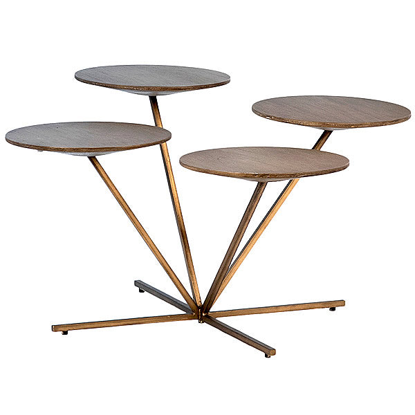 Wrexler Multi Level End Table with 4 Round Tops Hollywood