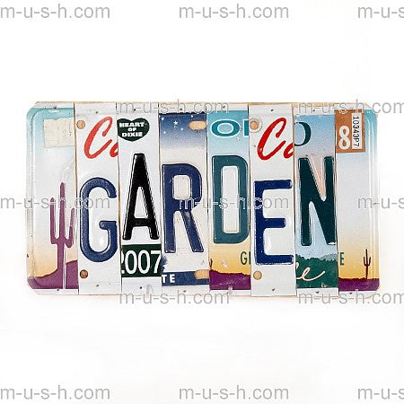 License Plate Signs GARDEN Hollywood