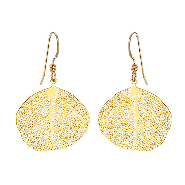 Gold Leaf Lace Earrings Hollywood