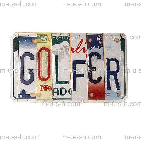License Plate Signs GOLFER