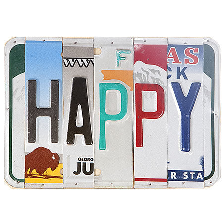 License Plate Signs HAPPY