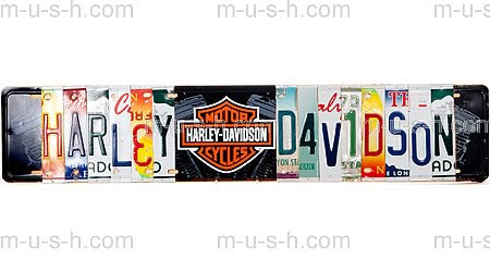 License Plate Signs HARLEY DAVIDSON Hollywood