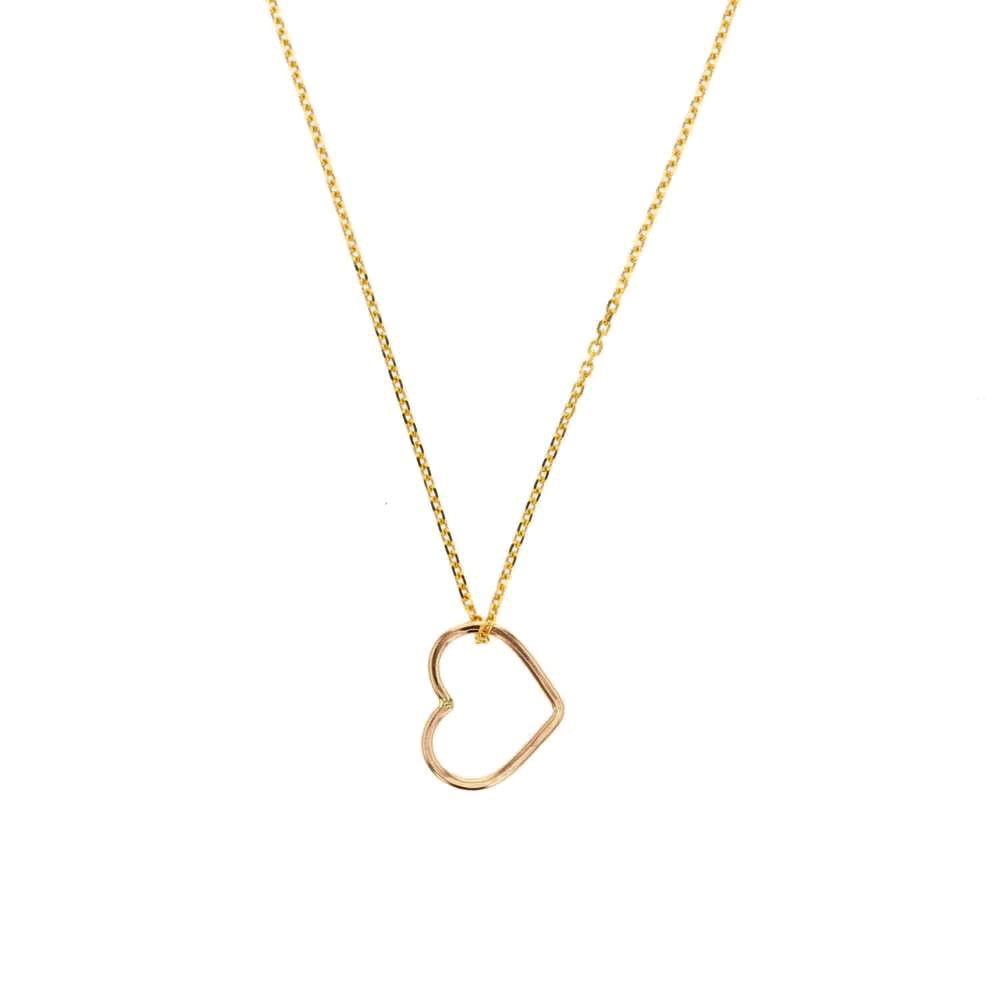 Amor Heart Shaped Pendant Necklace