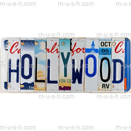 License Plate Signs HOLLYWOOD 2