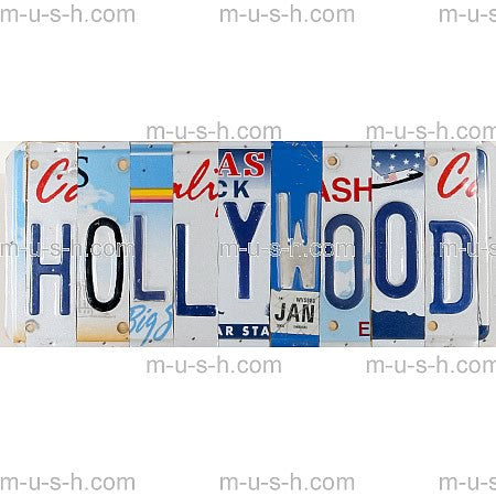 License Plate Signs HOLLYWOOD 3