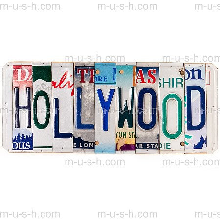 License Plate Signs HOLLYWOOD