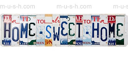 License Plate Signs HOME SWEET HOME