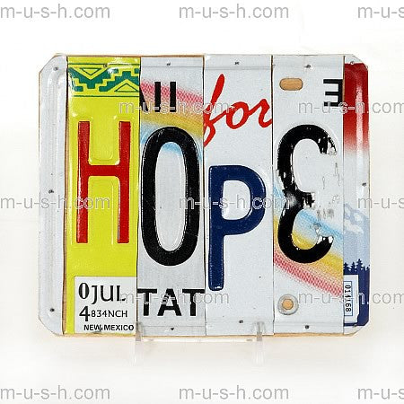 License Plate Signs HOPE v3