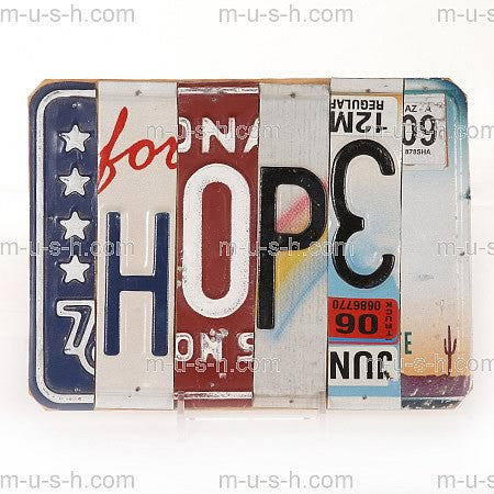 License Plate Signs HOPE v5 Hollywood