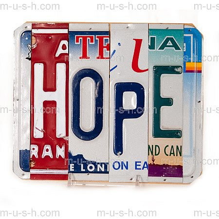 License Plate Signs HOPE Hollywood