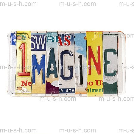 License Plate Signs IMAGINE Hollywood