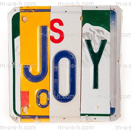 License Plate Signs JOY