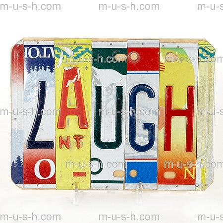 License Plate Signs LAUGH v2
