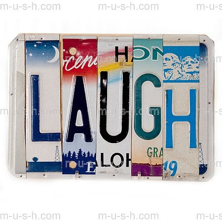 License Plate Signs LAUGH