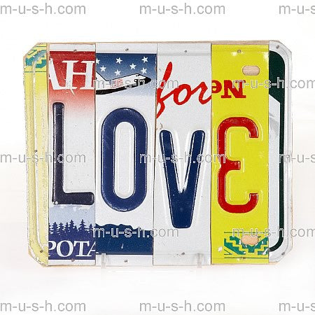 License Plate Signs LOVE v3