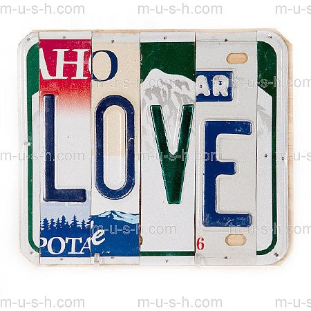 License Plate Signs LOVE
