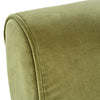 Ludwig Green Velvet Armchair with Antiqued Oak Frame