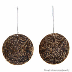 Sea Urchin One of a Kind Handmade Designer Earrings