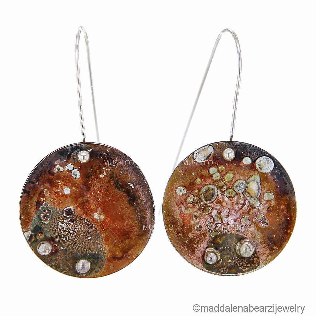 Costellazione Piegata One of a Kind Handmade Designer Earrings
