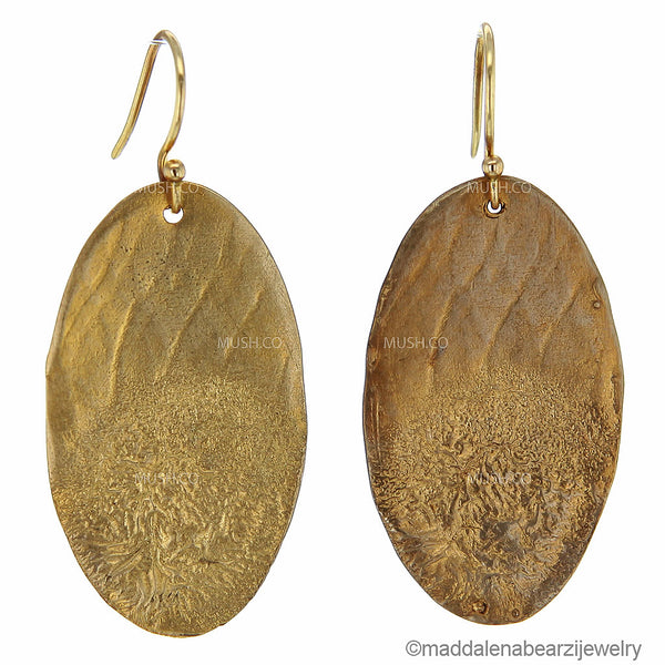 Marea Bronzea One of a Kind Handmade Designer Earrings