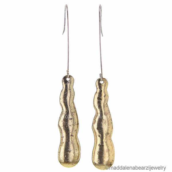 Trickles of Water One of a Kind Handmade Designer Earrings
