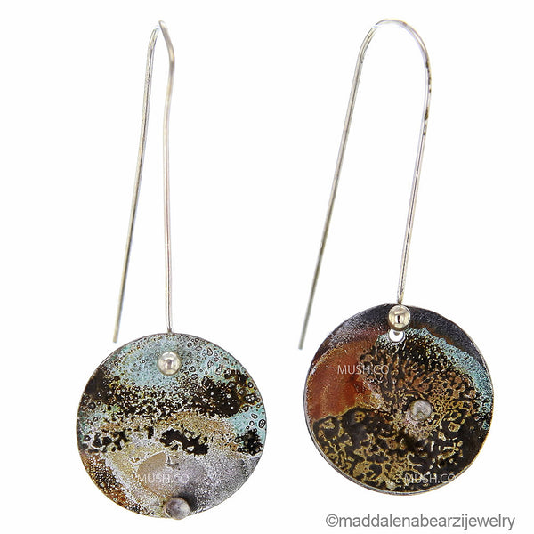 Piccola Costellazione Piegata One of a Kind Handmade Designer Earrings