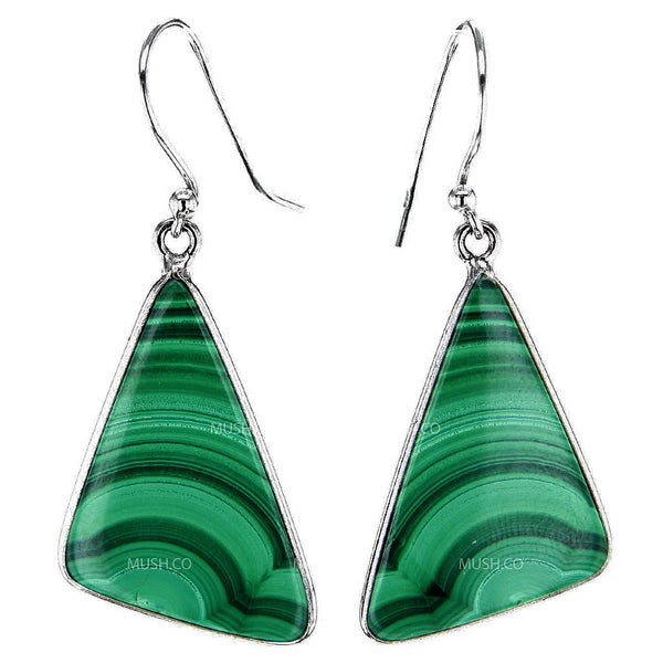 Malachite Slab Earrings