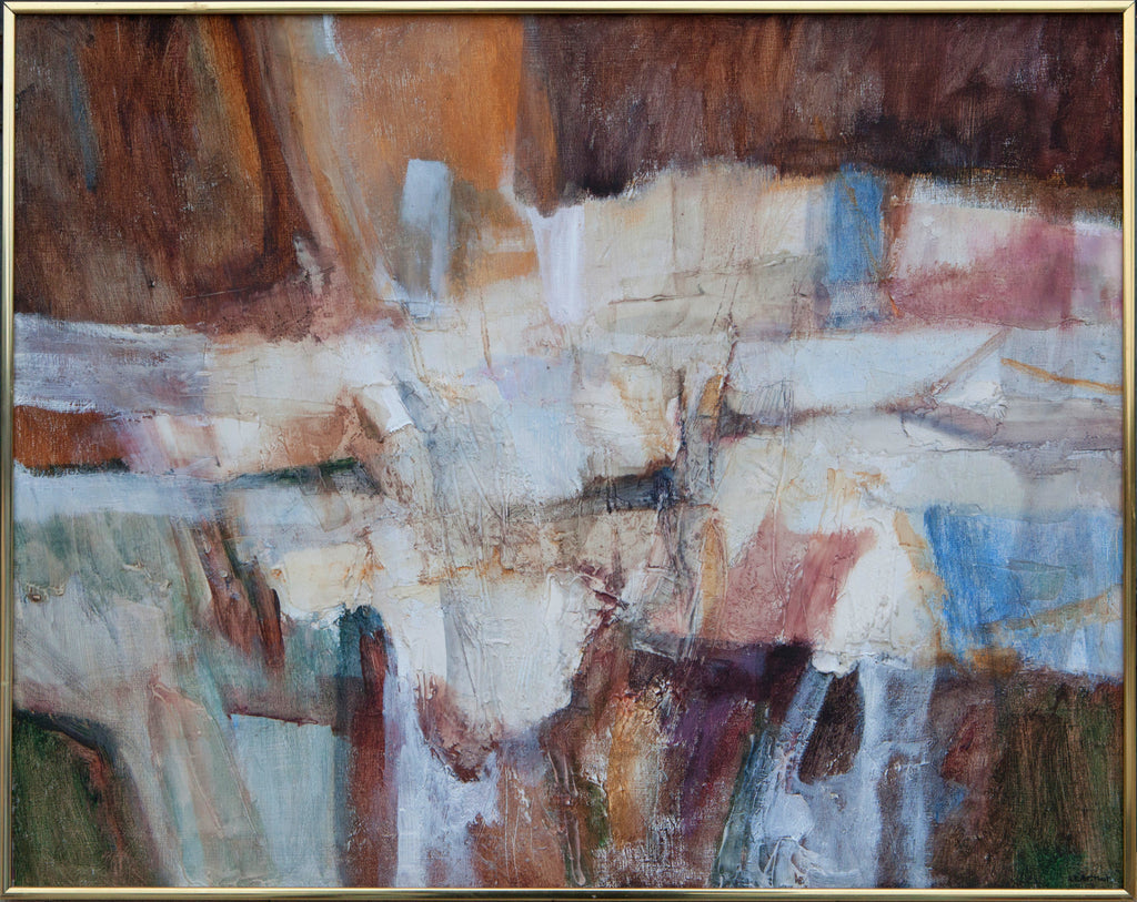 Vintage Abstract Painting Signed